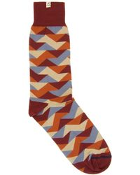 40 Colori - Red Geometric Organic Cotton Socks - Lyst