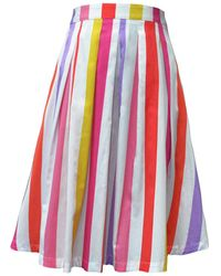 My Pair Of Jeans Lilac Mexico Midi Skirt - Multicolour