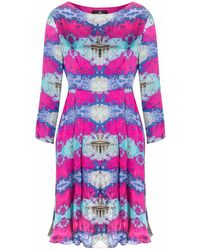 Jennifer Rothwell Gpo Pink Fit & Flare Dress