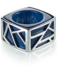 Ona Chan Jewelry - Square Cocktail Ring Blue Quartz - Lyst