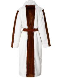 AGGI Faux Fur Coat Heera Marshmallow - White