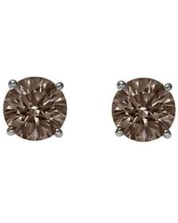 Augustine Jewels Smoky Quartz Small Stud Earrings - Brown
