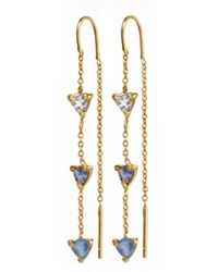 Tada & Toy - Ocean Needle & Thread Droplets Gold - Lyst