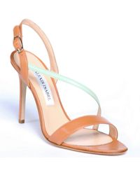 Alexis Isabel Catch Me If You Can Tan Leather Sandals - Multicolor