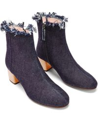 NINE TO FIVE - Ankle Boot Strand Raw Denim - Lyst