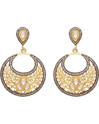 Carousel Jewels - Gold & Crystal Antique Dangle Earrings - Lyst