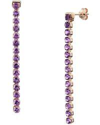 Tsai x Tsai 18kt Rose Gold Vermeil Wanli Amethyst Earrings - Multicolour