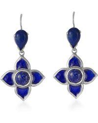 Emma Chapman Jewels Toyah Blue Enamel Earrings