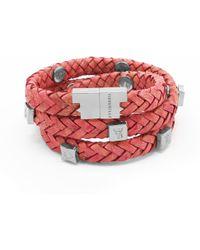 Tissuville - Brio Bracelet Raspberry Silver - Lyst