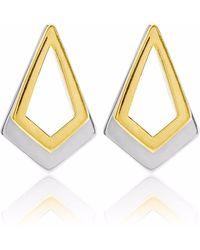 Neola - Serenity Gold & Sterling Silver Earrings - Lyst