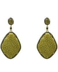 Latelita London Stingray Ball Earring Kiwi Green P4oWXu3