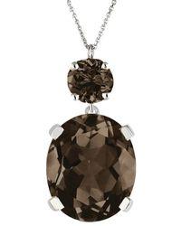 Augustine Jewels Smoky Quartz Drop Necklace - Brown
