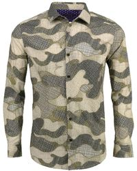 lords of harlech Norman In Dot Camo Camel - Gray
