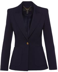 Nissa Single-breasted Navy Blue Blazer