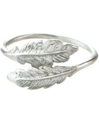 Lucy Flint Jewellery Feather Ring Sterling Silver - Metallic