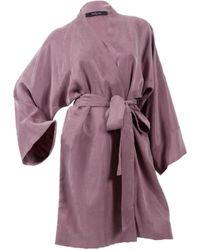 niLuu Blush Mini Kimono Robe - Purple