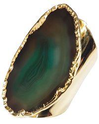 Tiana Jewel Elyssia Green Agate Gemstone Cuff Ring
