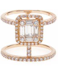 Ri Noor - Double Bar Diamond Ring - Lyst