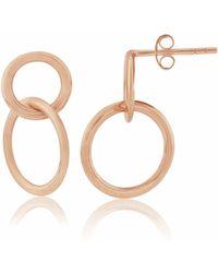 Auree - Kelso 9ct Rose Gold Drop Earrings - Lyst