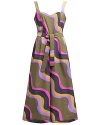 TOMCSANYI Sullo Cotton Jumpsuit 'waves' - Multicolour
