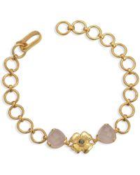 Emma Chapman Jewels - Elara Rose Quartz Labradorite Bracelet - Lyst