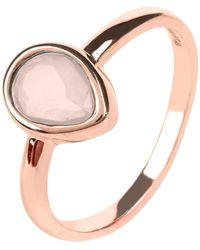LÁTELITA London - Pisa Mini Teardrop Ring Rosegold Rose Quartz - Lyst