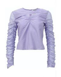 Amy Lynn Beja Long Sleeve Top - Purple