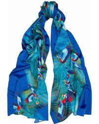 Jennifer Rothwell - Hummingbird Print Silk Scarf - Lyst
