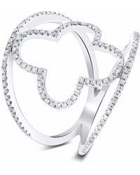 Cosanuova Spring Diamond Ring 18k White Gold - Metallic