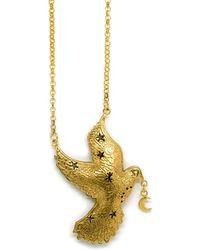 Annabelle Lucilla Jewellery Luna Dove Pendant - Metallic