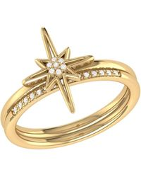 LMJ North Star Detachable Ring In 14 Kt Yellow Gold Vermeil On Sterling Silver - Green