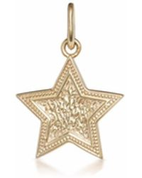 One and One Studio Sterling Silver & Gold Plated Embossed Star Pendant - Metallic