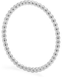 Myia Bonner - Silver Ultra Skinny Ball Stacking Ring - Lyst