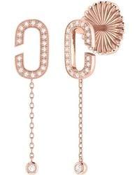 LMJ Celia C Drop Earrings In 14 Kt Rose Gold Vermeil On Sterling Silver - Metallic