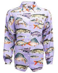 TOMCSANYI Peca Tie Back Shirt - Multicolour