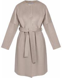 InAvati - Light Italian Wool Coat Beige - Lyst