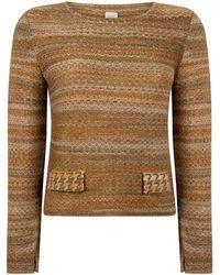 STUDIO MYR Sweater In Audrey Hepburn Style Tweed-moss. - Green