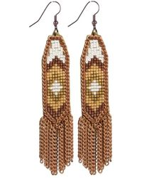 Fiona Paxton - Dahlia Rose Gold Earring - Lyst