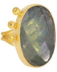 Ottoman Hands - Relic Labradorite Statement Ring - Lyst