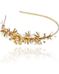 Linni Lavrova - Evia Hairband With Golden Flowers - Lyst