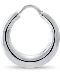 Hargreaves Stockholm - Fealty Silver Creole Hoop Earrings - Lyst