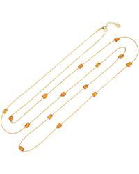 LÁTELITA London Venice 120cm Long Chain Necklace Gold Citrine - Metallic