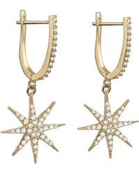 Talia Naomi - Supernova Earrings Gold - Lyst