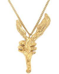 Loveness Lee - Chinese Zodiac Goat Horoscope Gold Pendant Necklace - Lyst