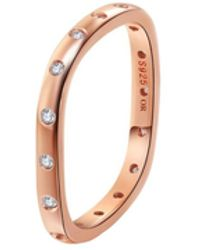 Opes Robur - Rose Gold Vermeil Stacking Ring With Diamonds - Lyst