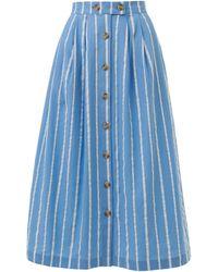 Emily and Fin Isla Seaspray Stripe Skirt - Blue
