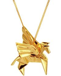 Origami Jewellery - Pegazus Necklace Gold Plated - Lyst