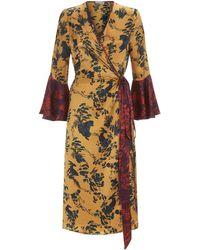 Klements - Netil Wrap Dress In Garden Puppets Print - Lyst