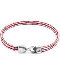 Anchor & Crew Classic Grey Cromer Silver & Rope Bracelet - Metallic