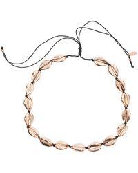 LÁTELITA London Cowrie Shell Choker Strand Necklace Rose Gold - Multicolour
